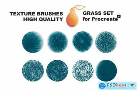 Procreate texture brushes GRASS SET 4315431