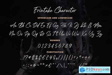 Frintake - Brush Calligraphy Font
