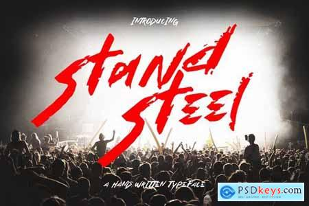 Stand Steel - Hand Written Typeface