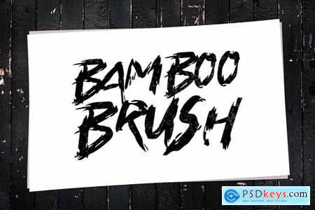 Bamboo Brush - Hand written Typeface