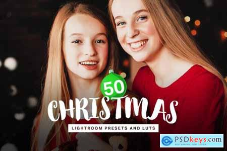 50 Christmas Lightroom Presets LUTs 4315283