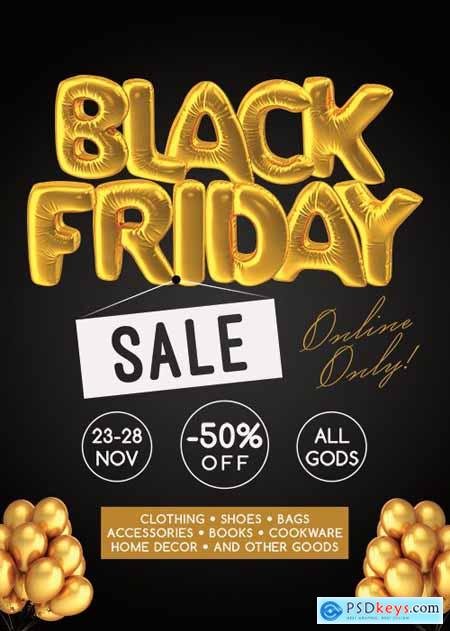 Black friday flyer - Premium flyer psd template
