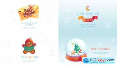 Videohive Christmas and New Year Greeting Cards 22749899
