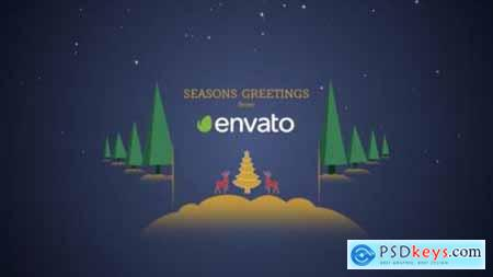 Videohive Parallax Christmas Greetings 21009108