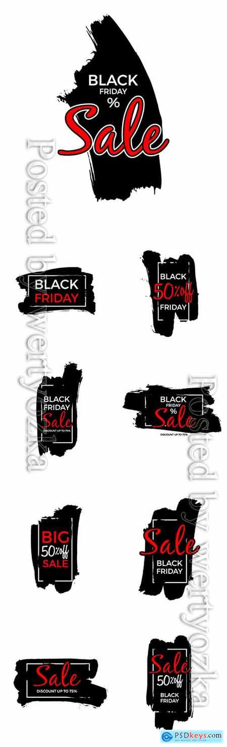 Black friday sale vector poster or label design