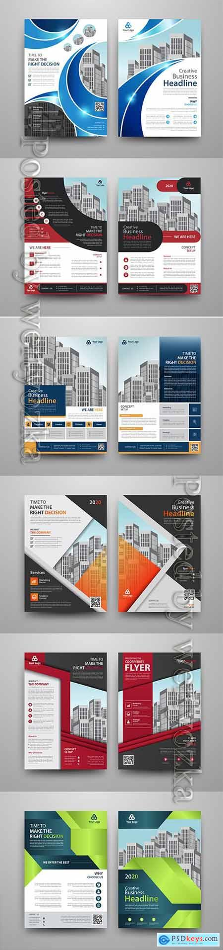 Business vector template for brochure, annual report, magazine # 15