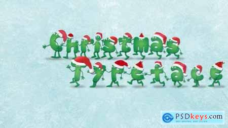 Videohive Christmas Typeface After Effects Template 22894595