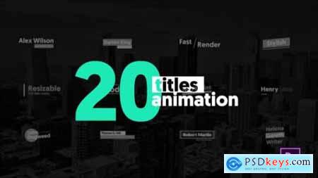 Videohive 20 Animated Titles MOGRT 23183393