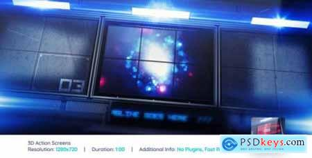 Videohive 3D Action Screens V2 261297