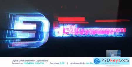Videohive Digital Glitch Distortion Logo Reveal V2 20425192
