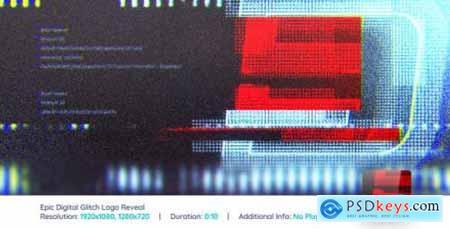 Videohive Epic Digital Glitch Logo Reveal V2 7786087