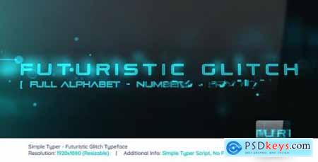 Videohive Simple Typer Futuristic Glitch Typeface 21462531
