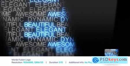 Videohive Words Fusion Logo Reveal V2 159945