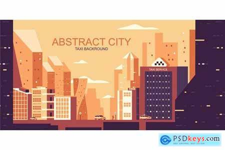 City Vector Illustration Header Website Pack
