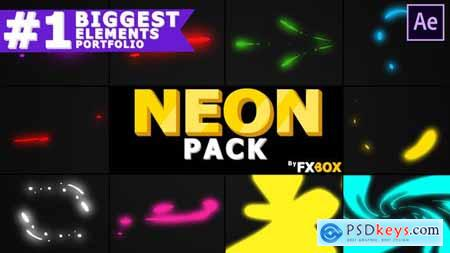 Videohive Neon Shape Elements After Effects 25117928