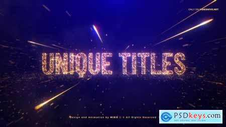 Videohive Awards Gold Particles Titles 24513891