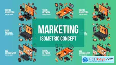 Videohive Digital Marketing - Isometric Concept 25076882