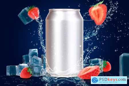 Tin Can Water Droplets Mockup 3753040