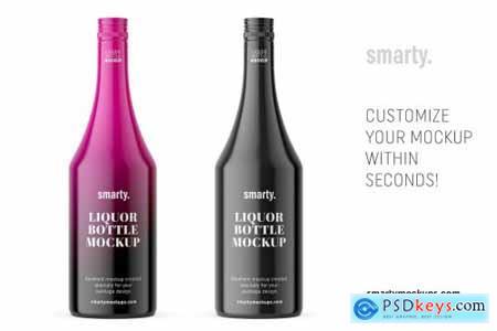 Glossy liqour bottle mockup 3362352