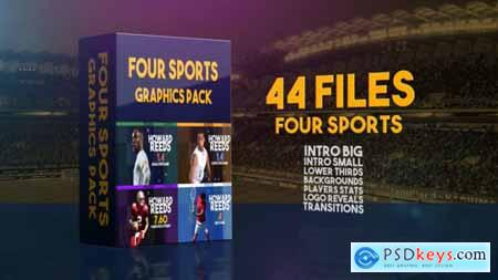 Videohive Four Sports Graphics Pack 24143666