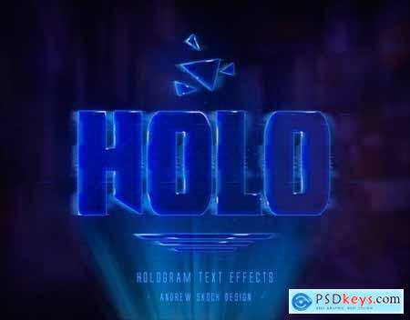 Hologram Text Effects 23600572