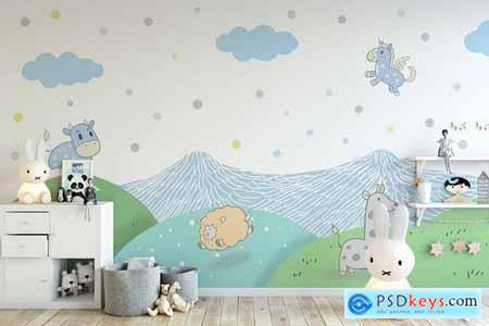 Wallpaper Animal Decorative for Kids