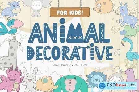 Wallpaper Animal Decorative for Kids