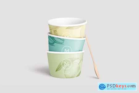 Ice cream paper cup mockup 4253280