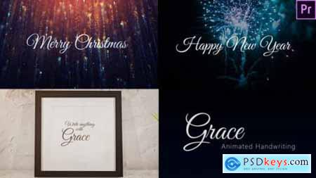 Videohive Grace - Animated Handwriting Typeface 25072496