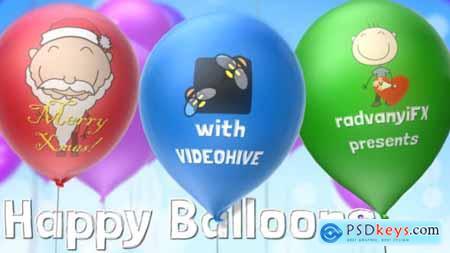Videohive Happy Balloons 6176061