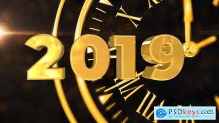 Videohive Happy New Year Countdown - 3D Animation 14032224