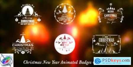 Videohive Christmas New Year Badges - Apple Motion 18680115
