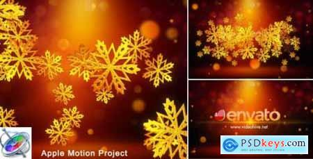 Videohive Snowflakes Logo - Apple Motion 18705444