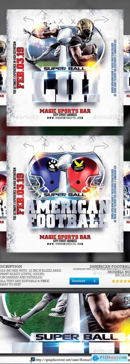 American Football Flyer 23111838