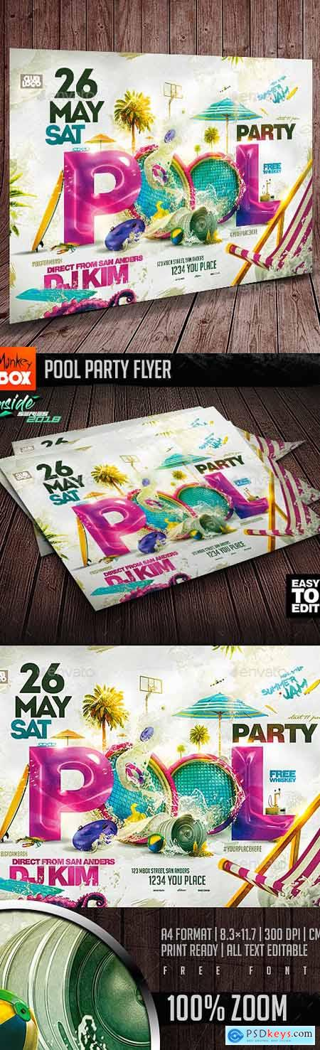 Pool Party Flyer 21966353