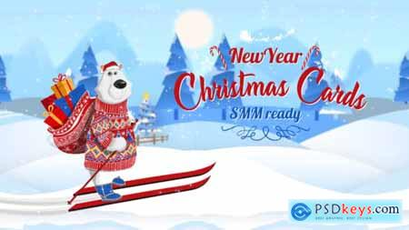 Videohive Christmas New Year Cards (SMM Ready) 23019809