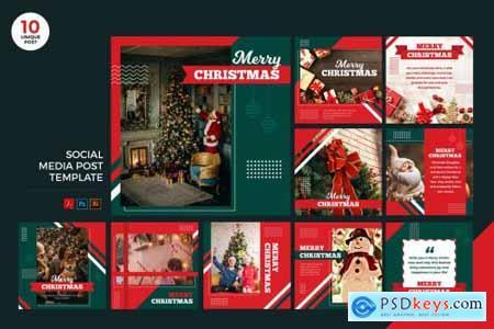 Merry Christmas Social Media Kit PSD & AI