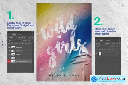Glued Poster Mockup Collection 4327438