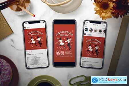 Christmas Music Flyer Set