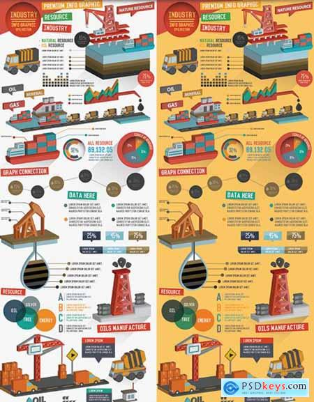 Industry & Logistic Infographic Design