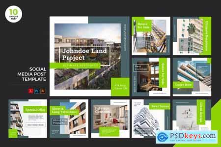 Building For Sale Social Media Kit PSD & AI