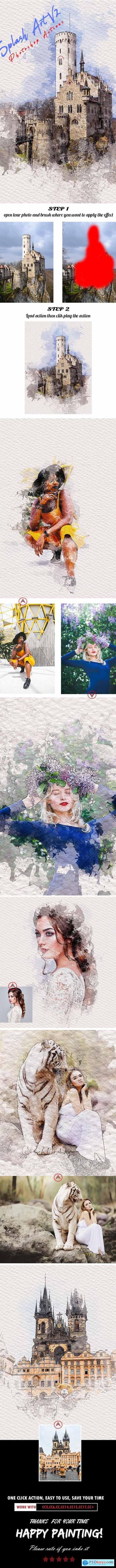 Splash Art V2 Photoshop Actions 25031701