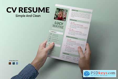 CV Resume Minimal And Clean