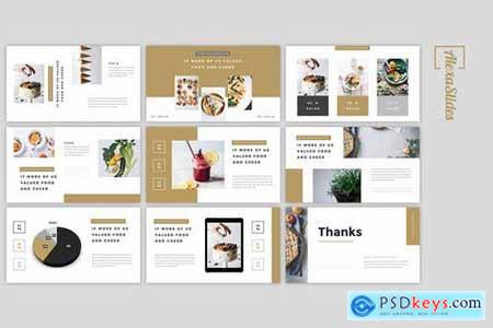 Deola - Food Powerpoint Google Slides and Keynote Templates