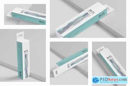 Box Mockup PSDs - High Slim Rectangle Size Hanger