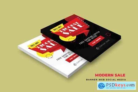 Modern Sale Banner Web Social Media