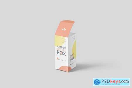 Amber Bottle Box Mockup Set