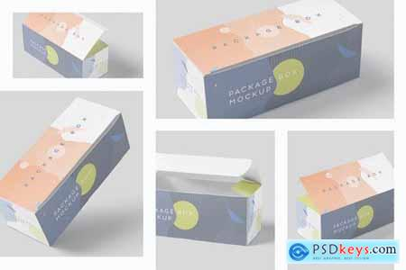 Package Box Mock-Up Set - Wide Rectangle
