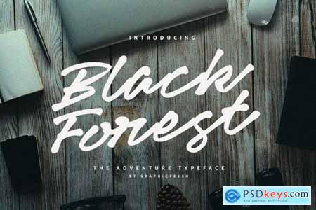 Black Forets Typeface Font