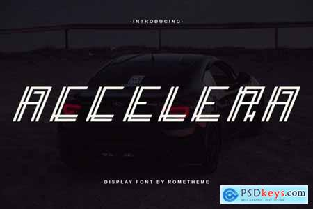 Accelera - Display Font DR